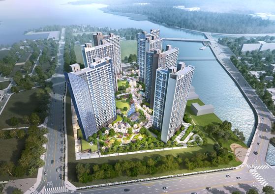 거제 앞바다 해양도시에 최고 34층 아파트 단지