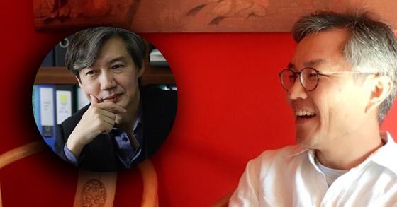 조국 청와대 민정수석(왼쪽)과 최강욱 변호사(오른쪽). [사진 트위터, 페이스북 캡처]