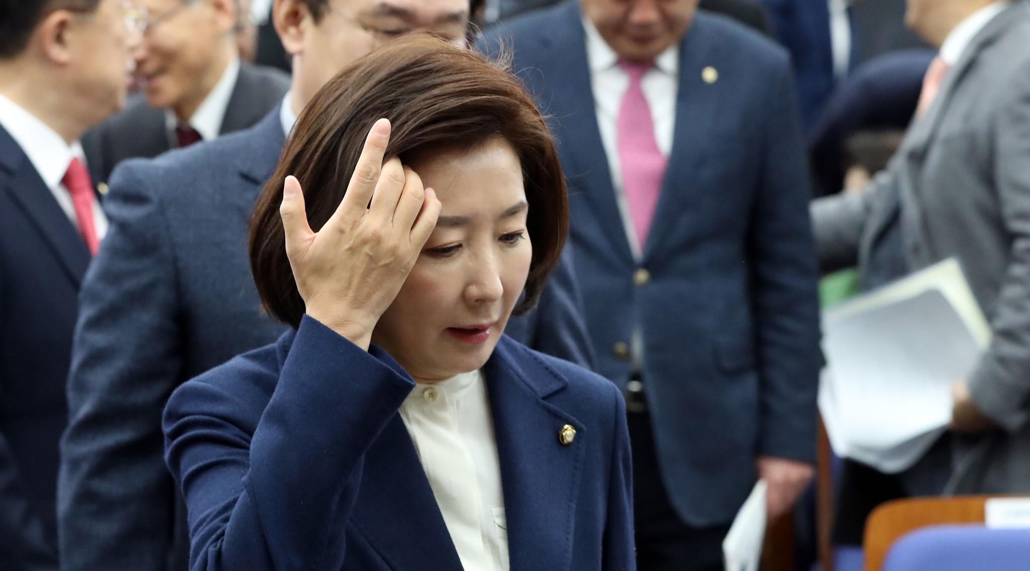 나경원 전 원내대표. 김경록 기자