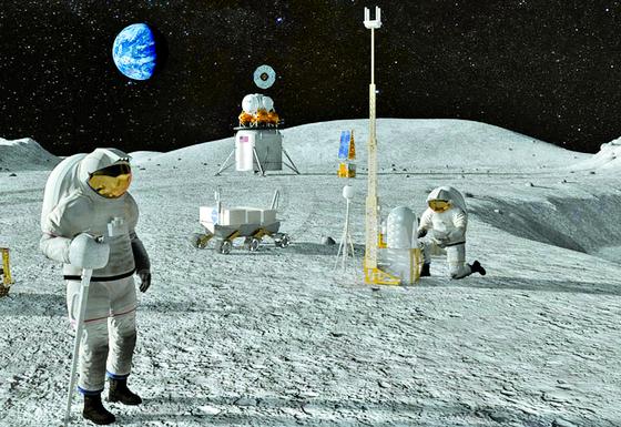 미국은 2024년 우주비행사 두 명을 시작으로 매년 유인 달 탐사를 한다는 '아르테미스 계획'을 지난해 5월 발표했다. 사진은 미 항공우주국(NASA)이 제시한 달 탐사 이미지. [사진 NASA]