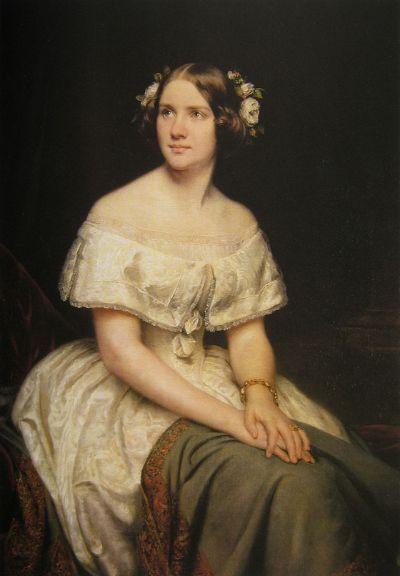 스웨덴의 나이팅게일로 불린 소프라노 제니 린드(1820 ~ 1887)의 순수한 모습. 에두아르트 마그누스 Eduard Magnus 그림. 1862. [사진 Wikimedia Commons]