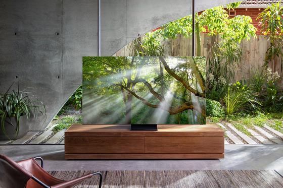 삼성전자 베젤리스 TV QLED 8K . CES 2020에서 공개할 예정이다. [삼성전자 제공]