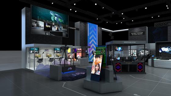 미국 라스베이거스에서 열리는 CES 2020 전시회에 마련된 SK텔레콤의 전시 부스. [SK텔레콤 제공]