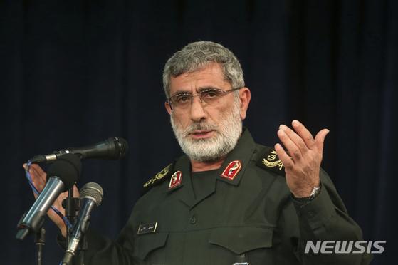 미군의 공격으로 사망한 거셈 솔레이마니 쿠드스군(이란 혁명수비대 정예군) 사령관의 후임으로 임명된 이스마일 가니. [AP 뉴시스]