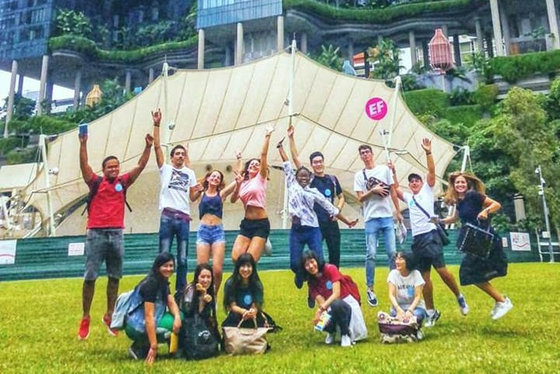 경희사이버대학교가 언어문화연수를 진행하는 'EF Singapore' 기관의 모습