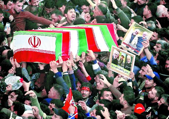 이란 솔레이마니 장례식