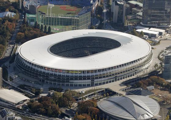 지난해 12월 2020 도쿄올림픽 메인스타디움으로 사용될 국립경기장 준공식이 열렸다. [연합뉴스]