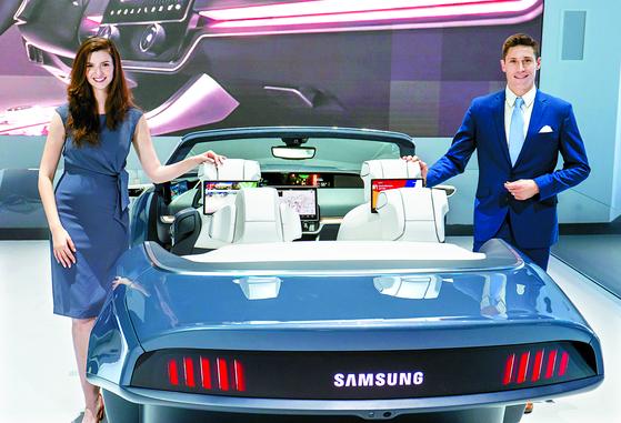 삼성전자가 7일(현지시각) 미국 라스베이거스에서 개막하는 CES 2020을 앞두고 시연한 차량용 인포테인먼트 시스템 '디지털 콕핏 2020'. [연합뉴스]