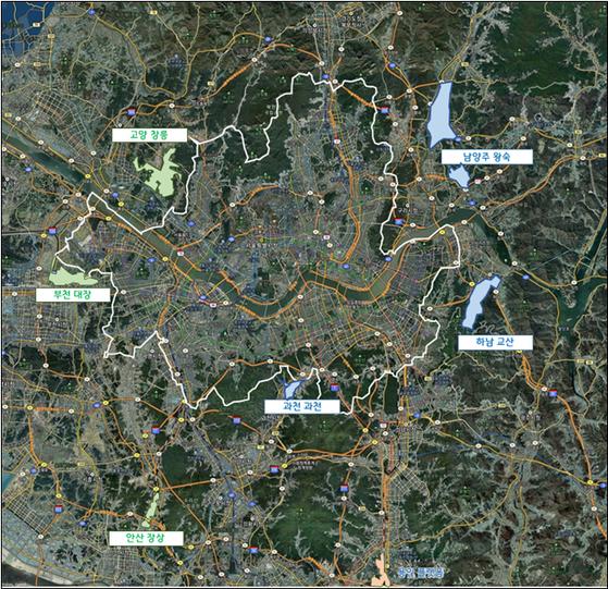 경기도의 3기 신도시·택지개발 위치도 [사진 경기도]