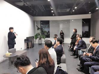 지난해 11월 손석희 JTBC 대표이사 사장과의 대담 현장