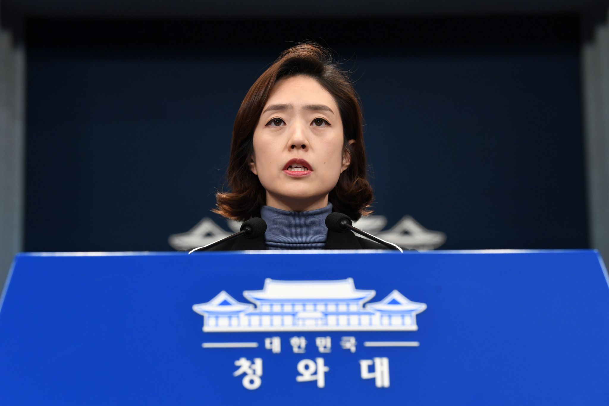 고민정 청와대 대변인. 청와대사진기자단
