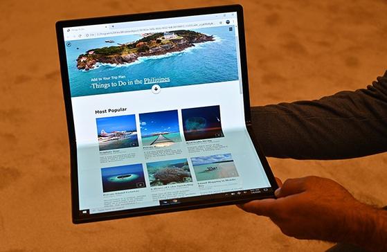 인텔이 CES2020에서 공개한 폴더블 노트북 '호스슈 벤드(Horseshoe Bend)' [사진 인텔]