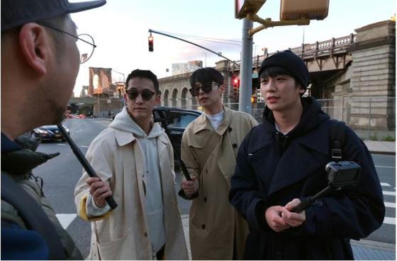 미국 뉴욕을 도보 여행하는 예능 '정해인의 걸어보고서'. [사진 KBS]