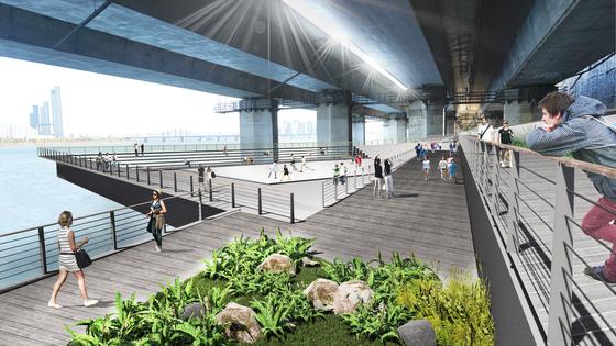 서울시는 8일 '한강변 보행 네트워크'를 조성하기 위한 국제설계공모 최종 당선작으로 '한강코드(HANGANG CODE)'를 선정했다고 밝혔다. [사진 서울시]
