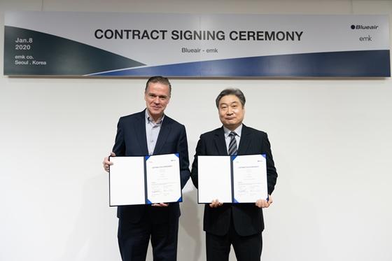 이엠케이, 스웨덴 블루에어와 국내 공식 총판 계약 체결