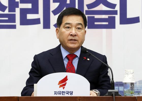 심재철 자유한국당 원내대표. 임현동 기자