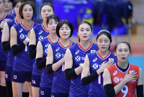 한국 여자 배구가 도쿄 올림픽 아시아대륙 예선에서 2연승을 거뒀다. 사진 =FIVB