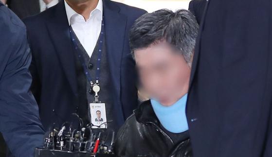 구속영장심사에 출석한 조국 전 법무부 장관의 동생. [연합뉴스]