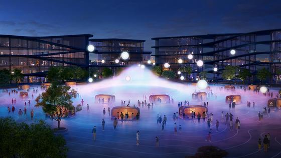 도요타가 CES 2020에서 발표한 우븐 시티의 조감도. 자율주행 모빌리티와 스마트 그리드 에너지를 사용하는 도시 실험이다. [사진 도요타]