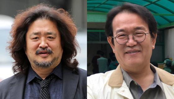 진보 논객 김어준(왼쪽)씨와 역사학자 전우용씨. [뉴스1·트위터 캡처]