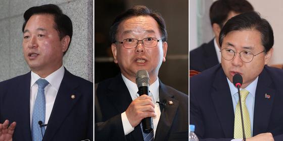 왼쪽부터 김두관,김부겸,김영춘 의원 [연합뉴스]