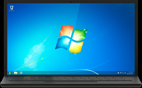 윈도7 노트북 이미지. [사진 MS]