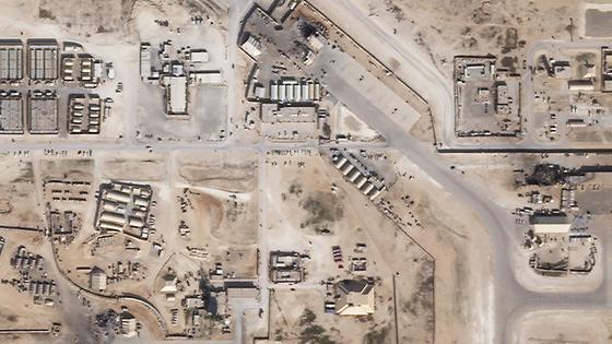지난 8일 이란 공격 받은 이라크 미군기지 [AFP=연합뉴스]