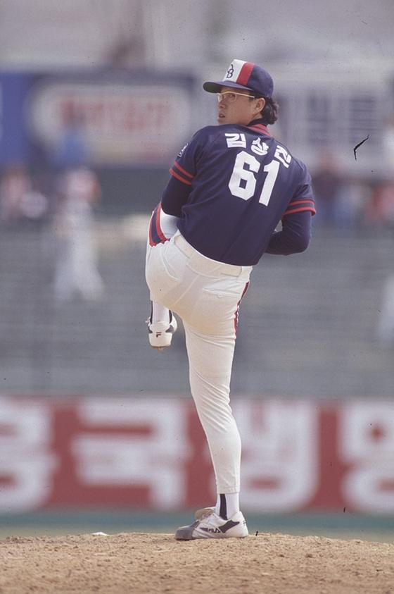 김상진 코치의 OB 시절 모습