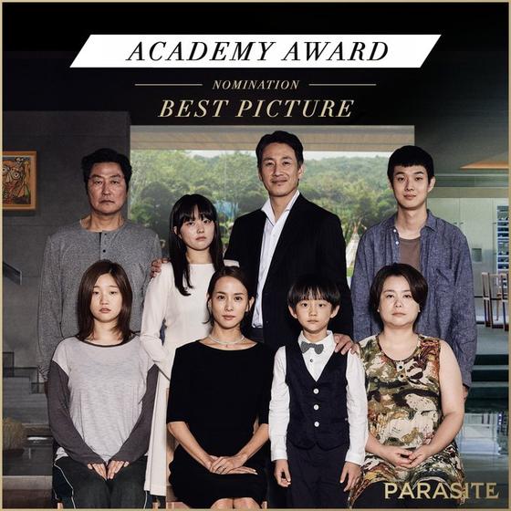 영화 '기생충(PARASITE·봉준호 감독)'이 한국 영화 역사상 최초 미국 아카데미시상식 6개 부문 최종 후보에 노미네이트 됐다. 작품상(BEST PICTURE) / 사진=NEON 공식 SNS