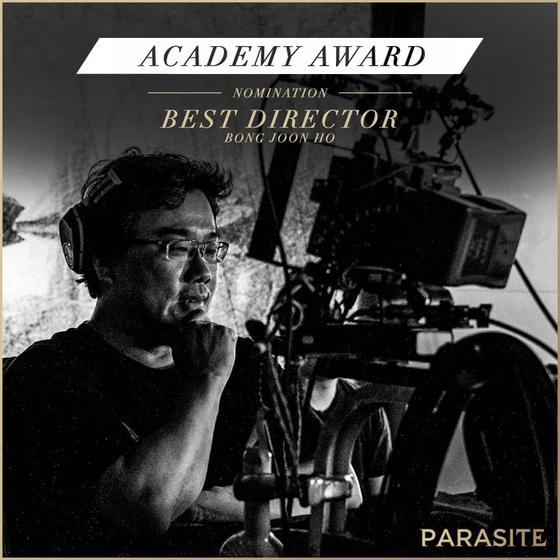 영화 '기생충(PARASITE·봉준호 감독)'이 한국 영화 역사상 최초 미국 아카데미시상식 6개 부문 최종 후보에 노미네이트 됐다. 감독상(BEST DIRECTOR) / 사진=NEON 공식 SNS