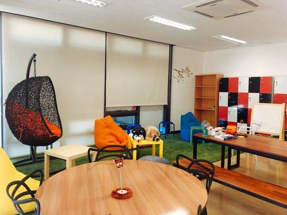 창의플랫폼 팀원들의 기숙사 내 전용 공간 '크레용'. [사진 연세대학교]