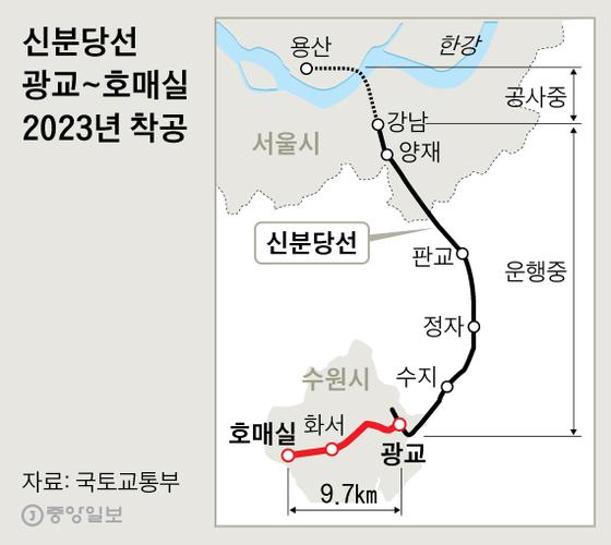 신분당선 광교~호매실 2023년 착공. 그래픽=신재민 기자