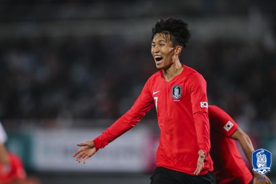 한국 U-23 대표팀 정우영. 대한축구협회 제공
