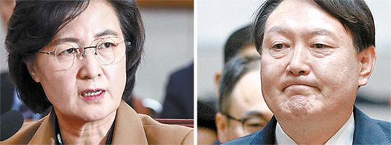 추미애 법무부 장관과 윤석열 검찰총장[뉴스1]