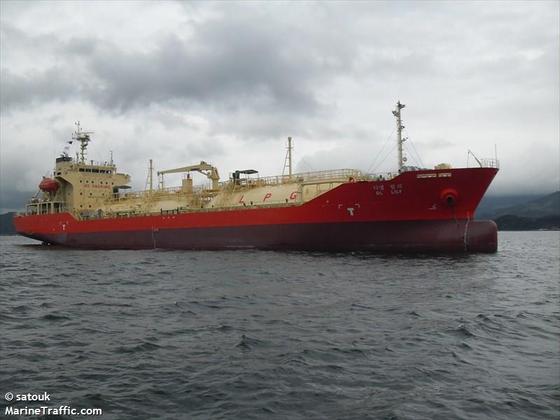 인도네시아 해군에 억류된 'DL 릴리호' [사진 마린트래픽]