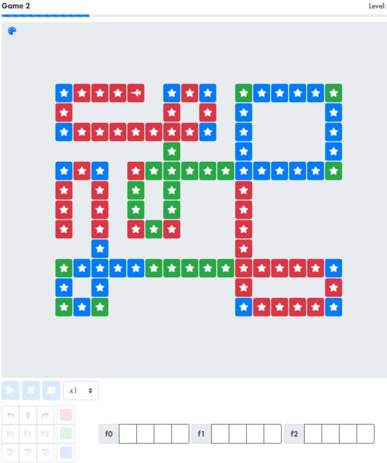 42 서울 온라인테스트 중 게임2 논리력 테스트의 11단계 문제. [42 서울 캡처]