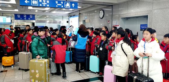 중국 산둥성과 장쑤성에서 모인 3000여명의 수학여행단은 지난 10일부터 순차적으로 인천항을 통해 한국을 찾는다. [사진 인천관광공사]