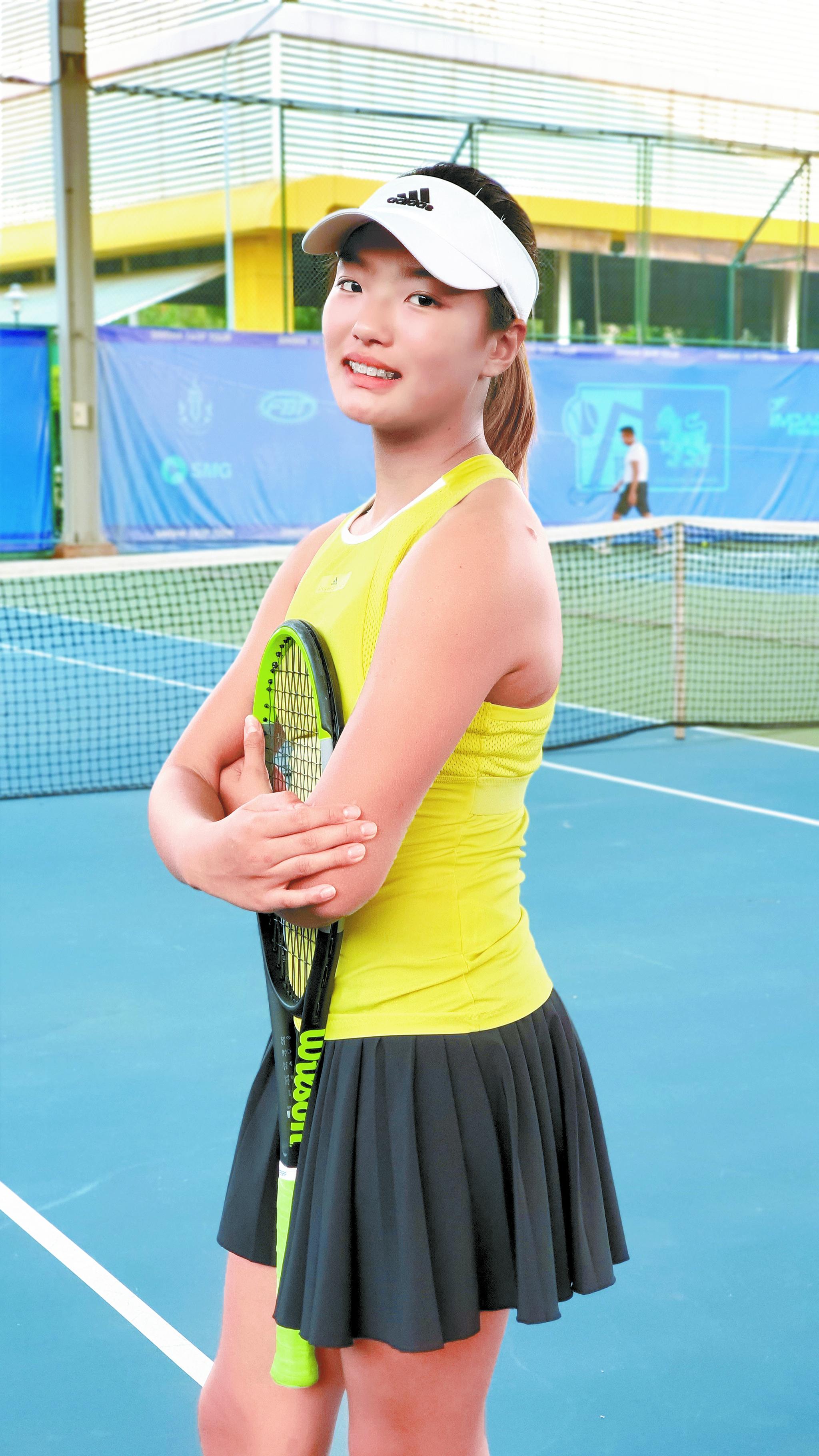 이동국 딸 이재아는 28일부터 호주에서 열리는 아시아 퍼시픽 U-14 대회에 초청받았다. 아시아테니스연맹(ATF) 아시아와 오세아니아 국가별 최고랭킹 남녀 한명씩, 총 16명을 초청한 것이다.[사진 이재아 제공]