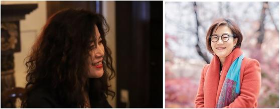 (왼쪽부터) 문화예술경영전공 국윤경(19학번) 학생과 강윤주 교수가 문화예술에 대한 인터뷰를 진행했다.