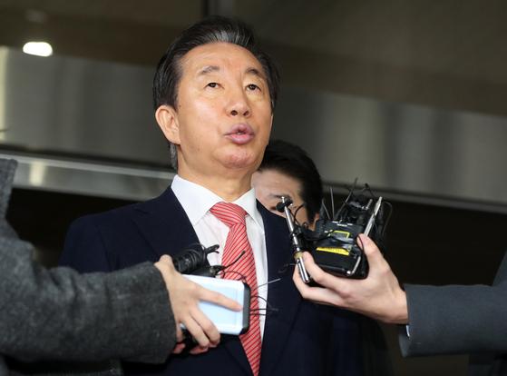 김성태 자유한국당 의원이 17일 1심 무죄를 선고 받았다.[뉴스1]