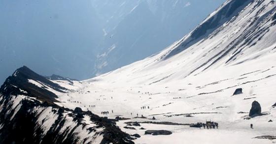네팔 안나푸르나 베이스캠프. [EPA=연합뉴스]