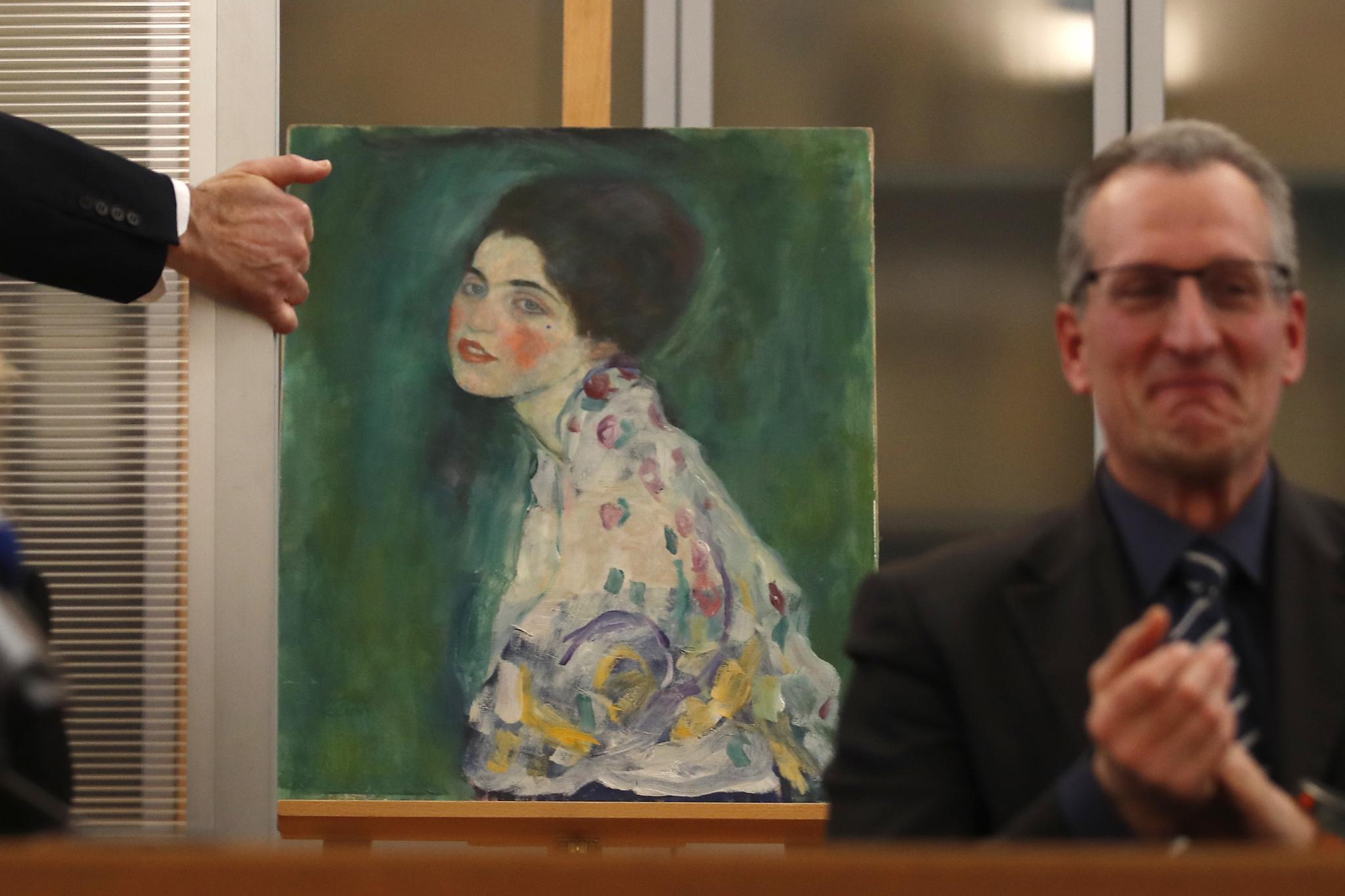 도난당했던 구스타프 클림트의 그림 '여인의 초상'. [AP=연합뉴스]