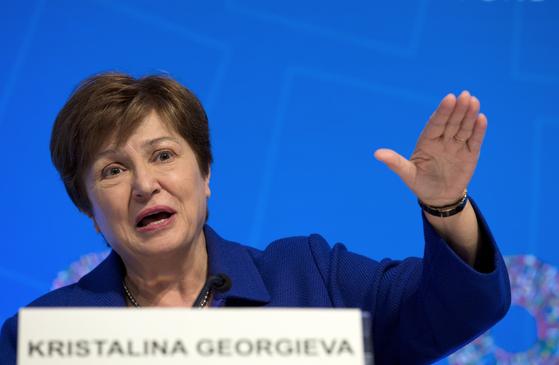 크리스탈리나 게오르기에바 국제통화기금(IMF)총재. [AP=연합뉴스]