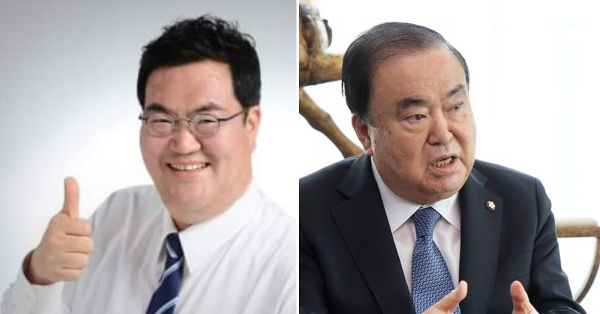 문희상 국회의장(오른쪽)과 그의 아들 문석균씨. [연합뉴스]