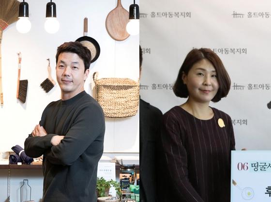 손창현 OTD 대표(왼쪽)와 '띵굴마님'으로 활동해 온 블로서 이혜선씨. 장진영 기자, [사진 홀트아동복지]