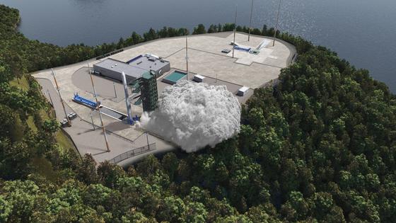 내년 2월 첫 발사를 목표로 하고 있는 한국형발사체 누리호의 발사 장면을 컴퓨터그래픽으로 만든 모습 [사진 한국한공우주연구원]