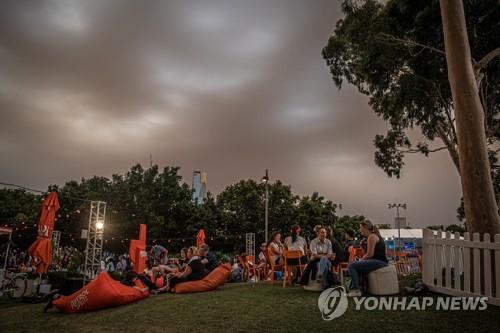 짙은 갈색으로 변한 호주 멜버른의 하늘. [EPA=연합뉴스]