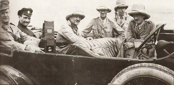 제1차 세계대전 중 주권국가인 이란에 들어와 오스만튀르크 군대와 싸운 영국군의 모습. [위키피디아]