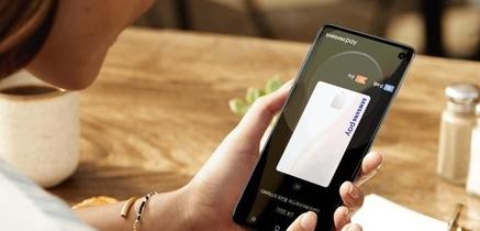 스마트폰 간편결제 서비스인 삼성페이의 이미지.