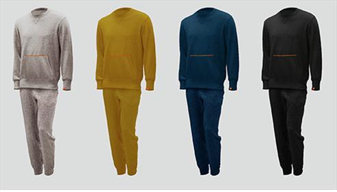 전자피부(e-skin) 부착 일상복과 잠옷. [사진 CES2020 홈페이지]